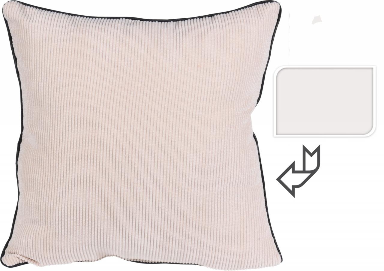 Polštář manšestr bílý 45x45 cm