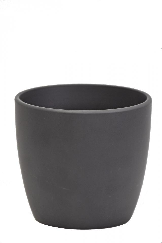 Keramický květináč černý