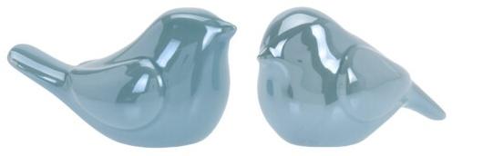 Porcelánový ptáček tyrkysový 8,2x4,7x5 cm, mix druhů