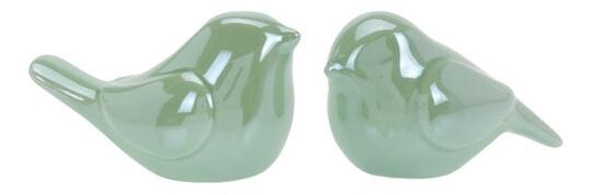 Porcelánový ptáček zelený 8,2x4,7x5 cm, mix druhů