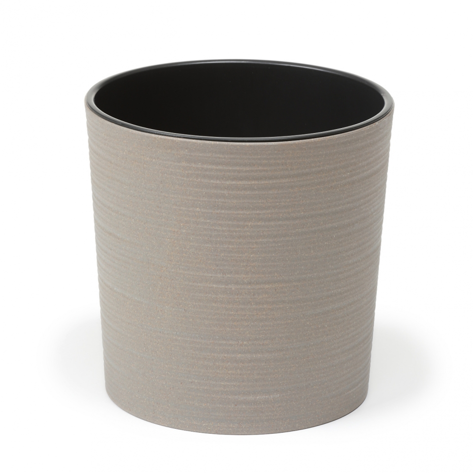 Plastový květináč Malwa ECO 190 mm vroubek, šedý