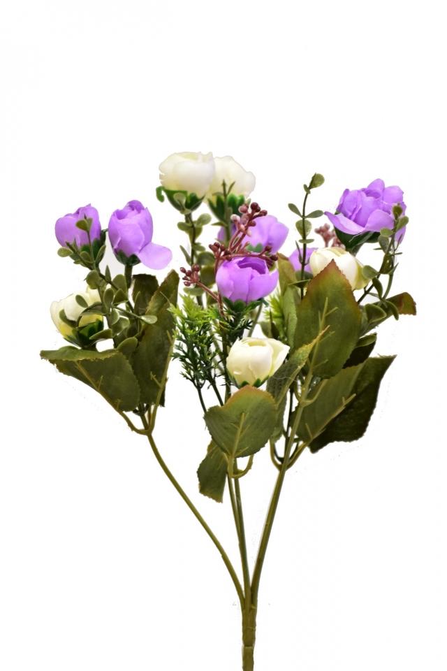Kytice kamélií fialová 33 cm