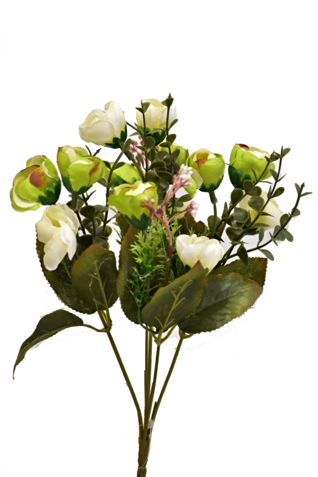 Kytice kamélií bílá 33 cm