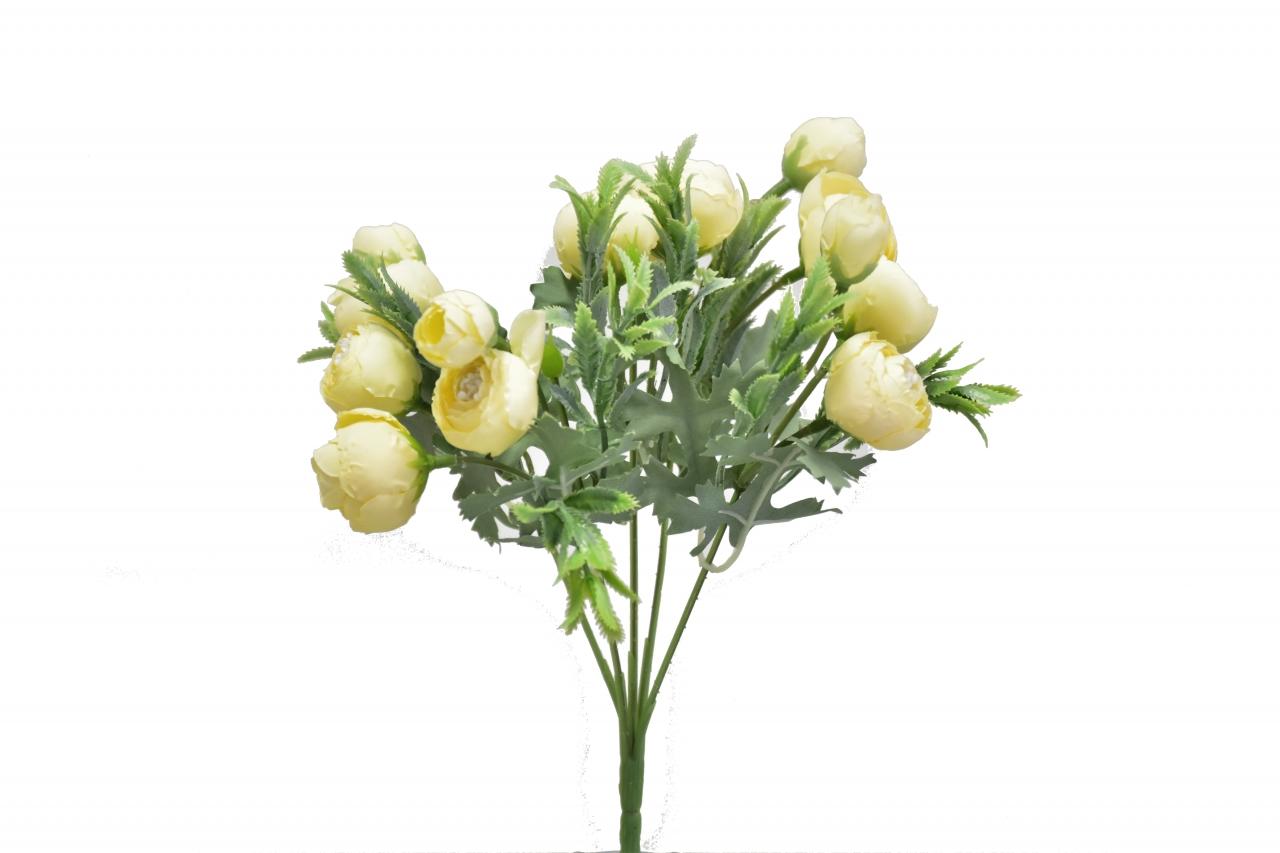 Kytice kamélií 40 cm, žlutá