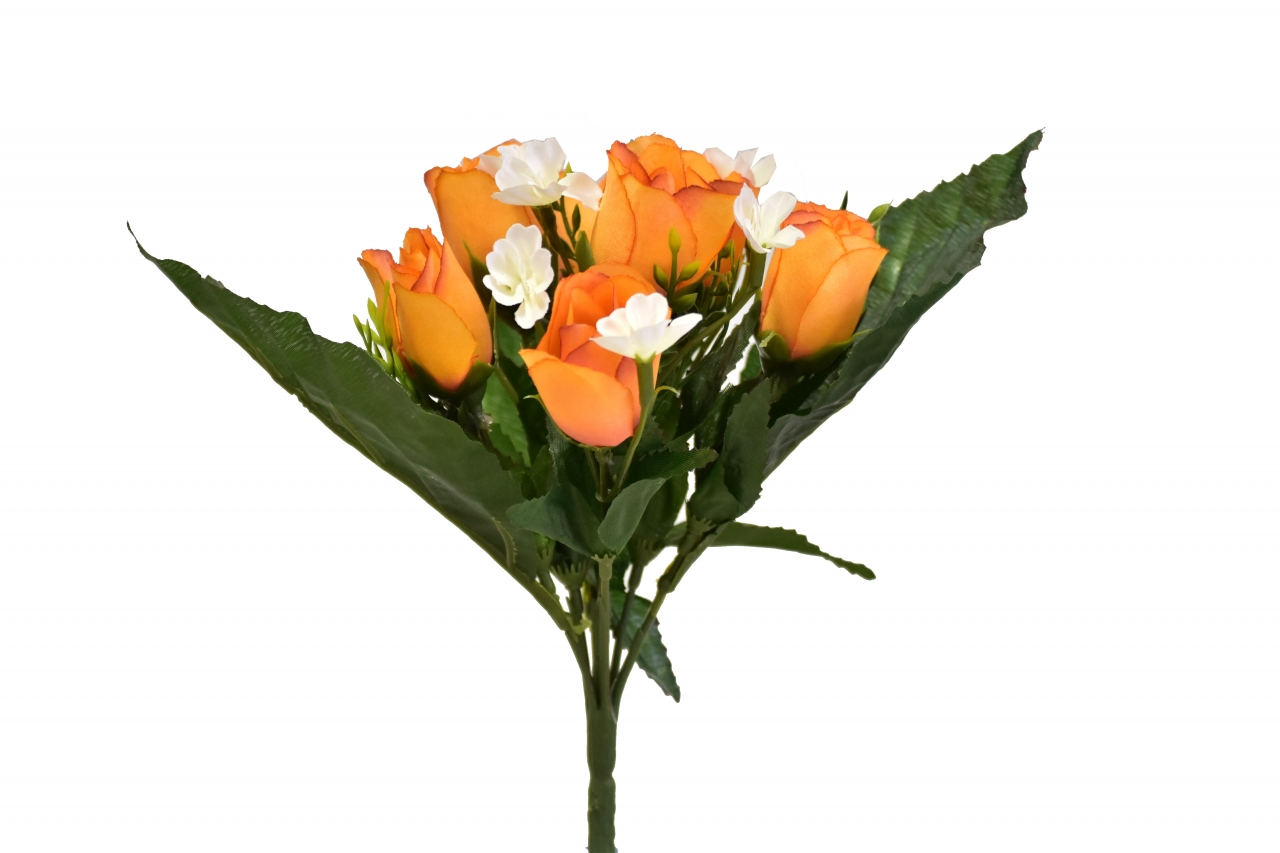 Kytice růží 26 cm, oranžová