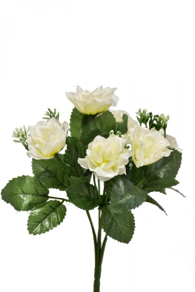 Kytička růží 28 cm, krémová