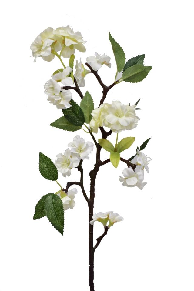 Větvička jabloně 66 cm, bílá