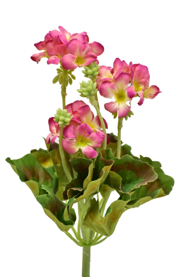 Umělá pelargonie 26 cm, světle růžová
