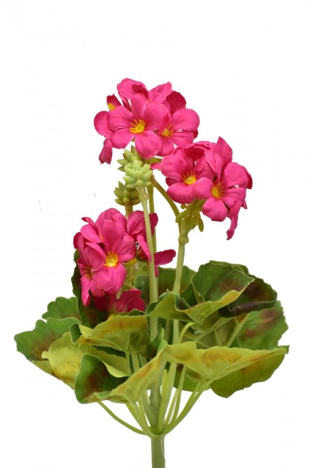 Umělá pelargonie 26 cm, tmavě růžová