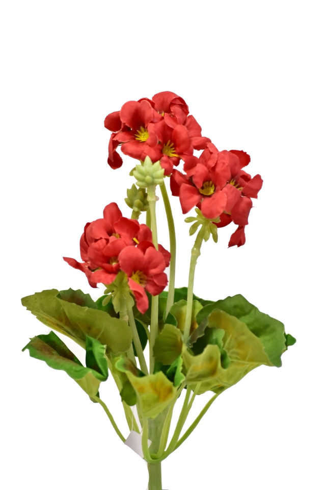 Umělá pelargonie 26 cm, červená