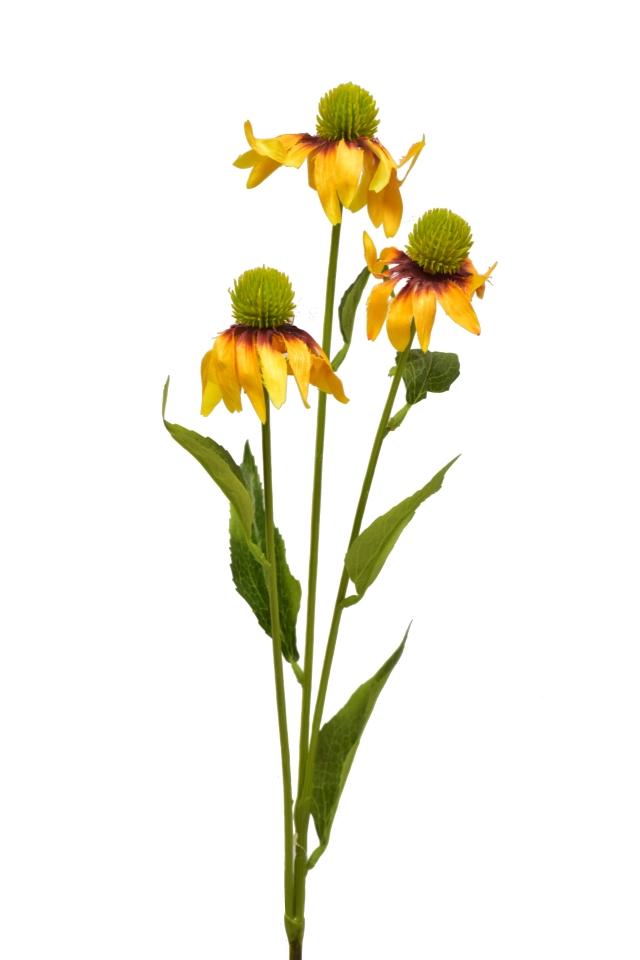 Umělá rostlina Echinacea 76 cm, oranžová