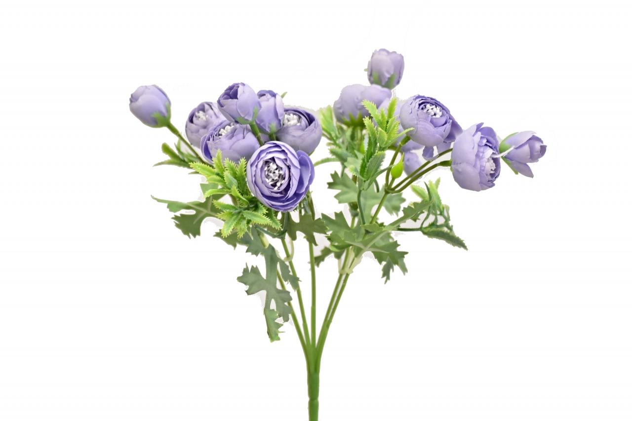 Kytice kamélií 40 cm, fialová