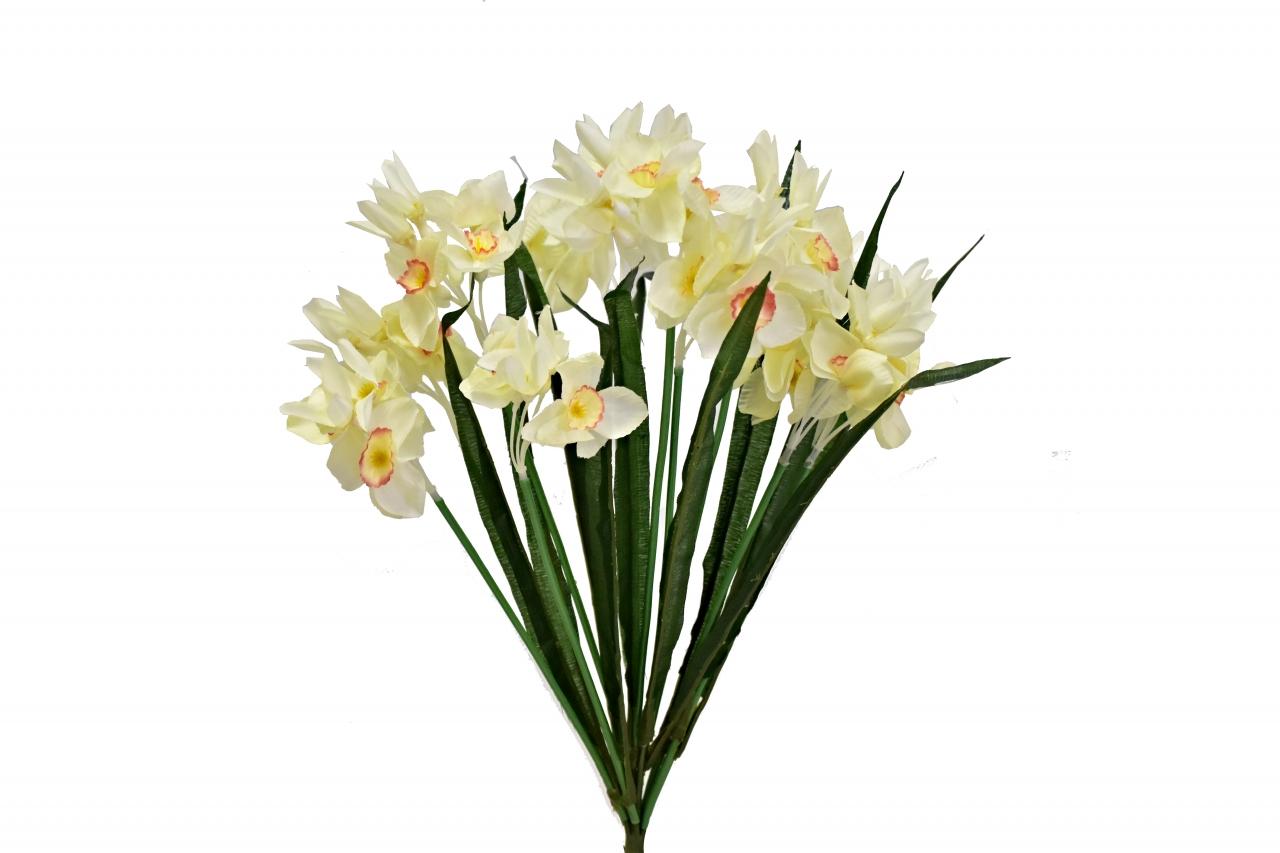 Kytice narcisů 49 cm, světle žlutá