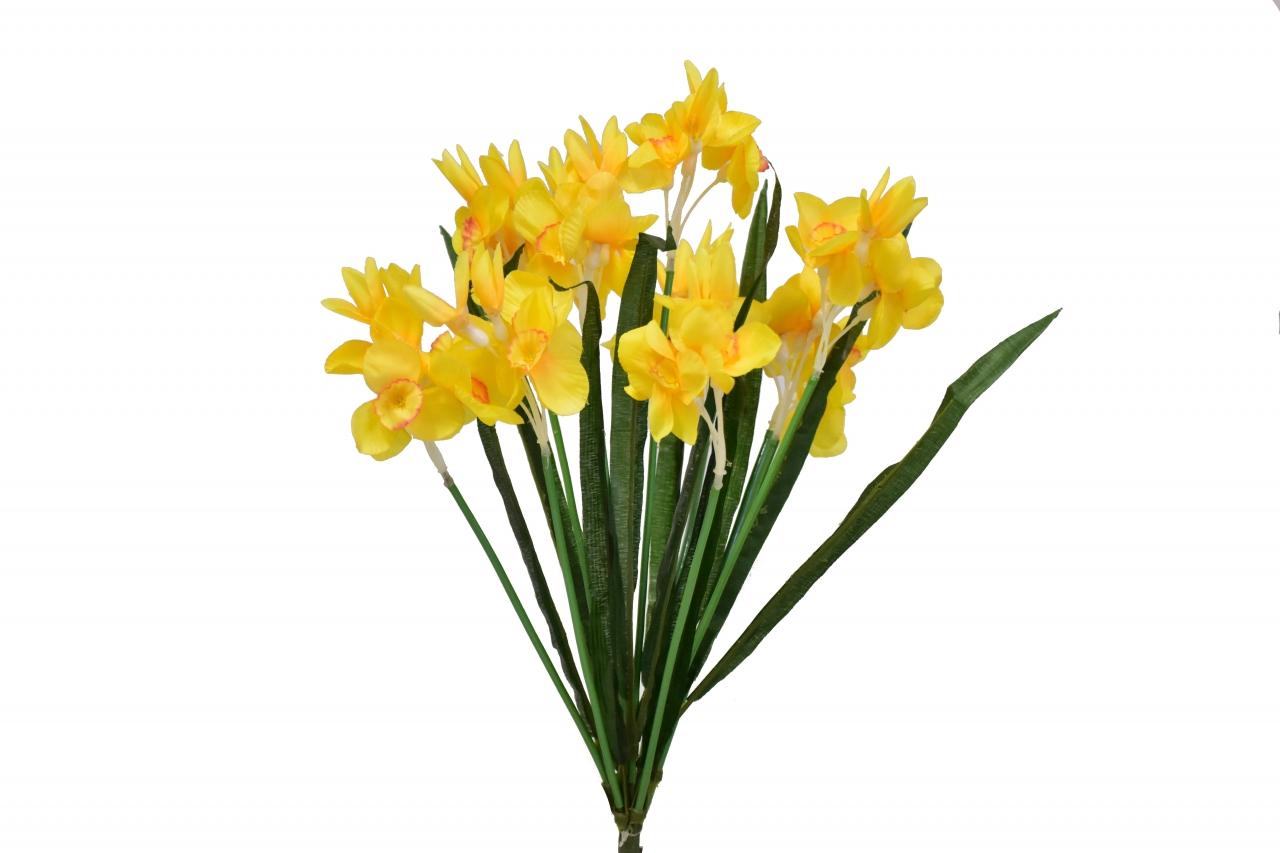 Kytice narcisů 49 cm, tmavě žlutá