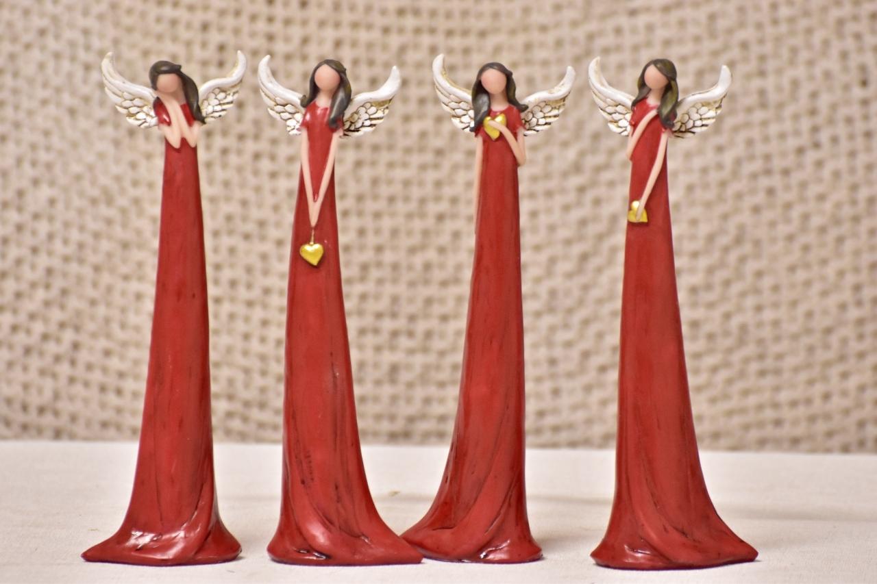 Anděl Zafrire červený 20 cm, mix druhů