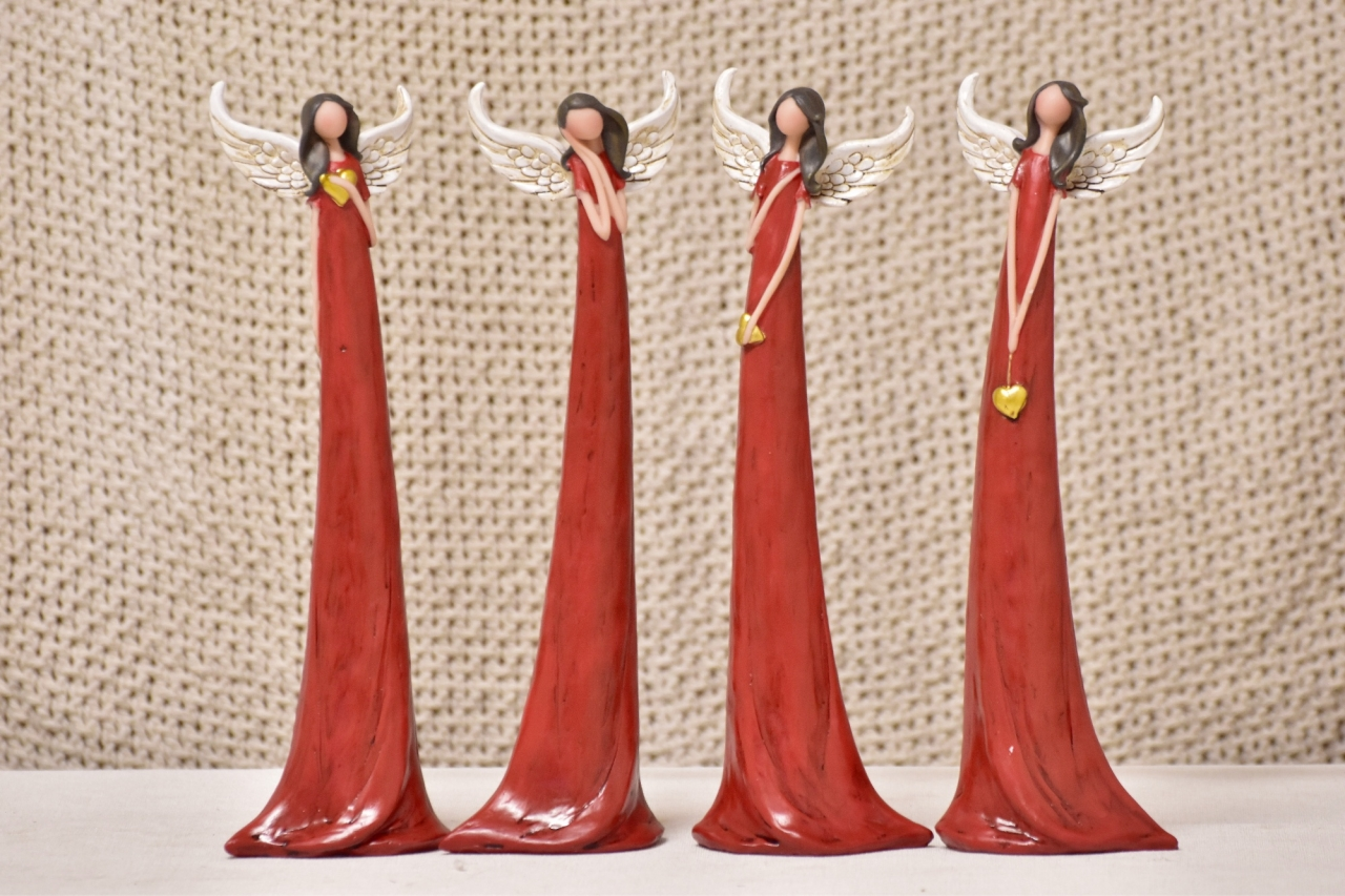Anděl Zafrire červený 30 cm, mix druhů