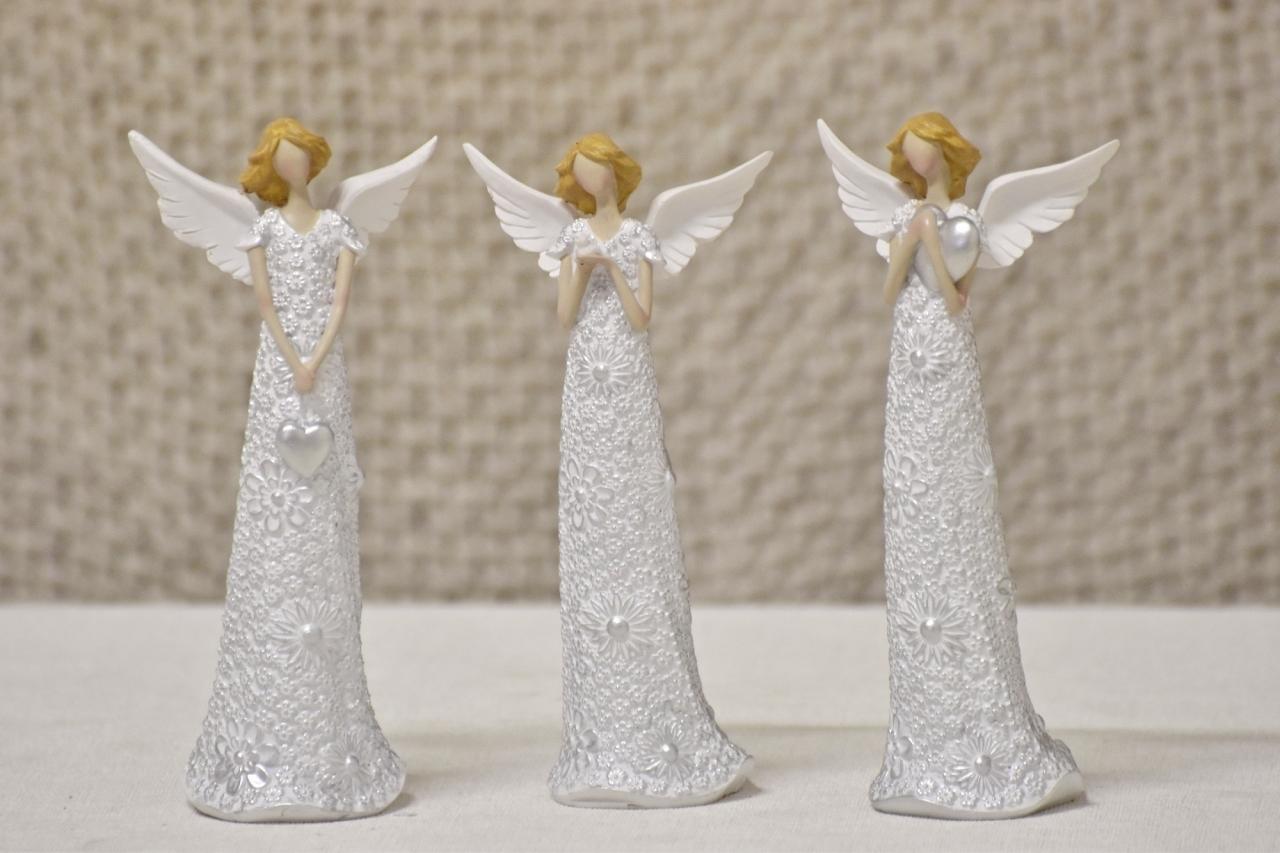 Anděl Flo Silver 15,5 cm
