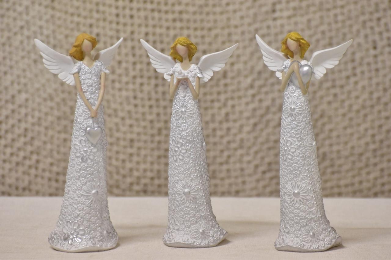 Anděl Flo Silver 19,5 cm