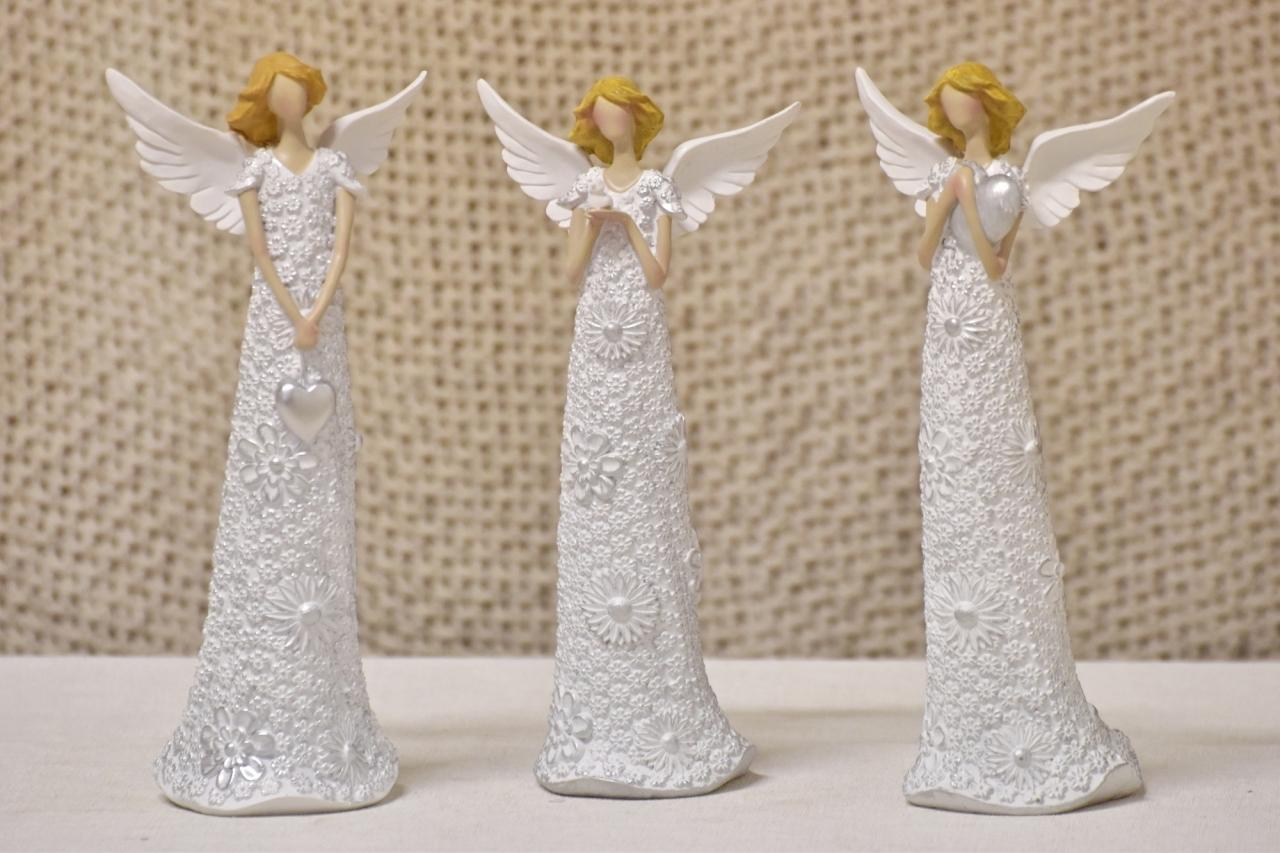 Anděl Flo Silver 24,5 cm