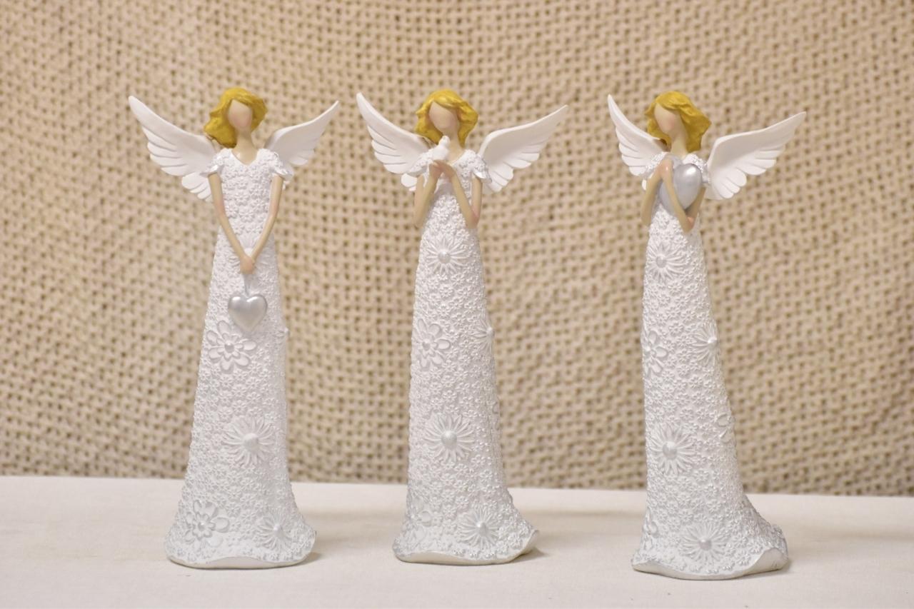 Anděl Flo Silver 29 cm (122048 015 CAP-6-00907-20 W anděl)