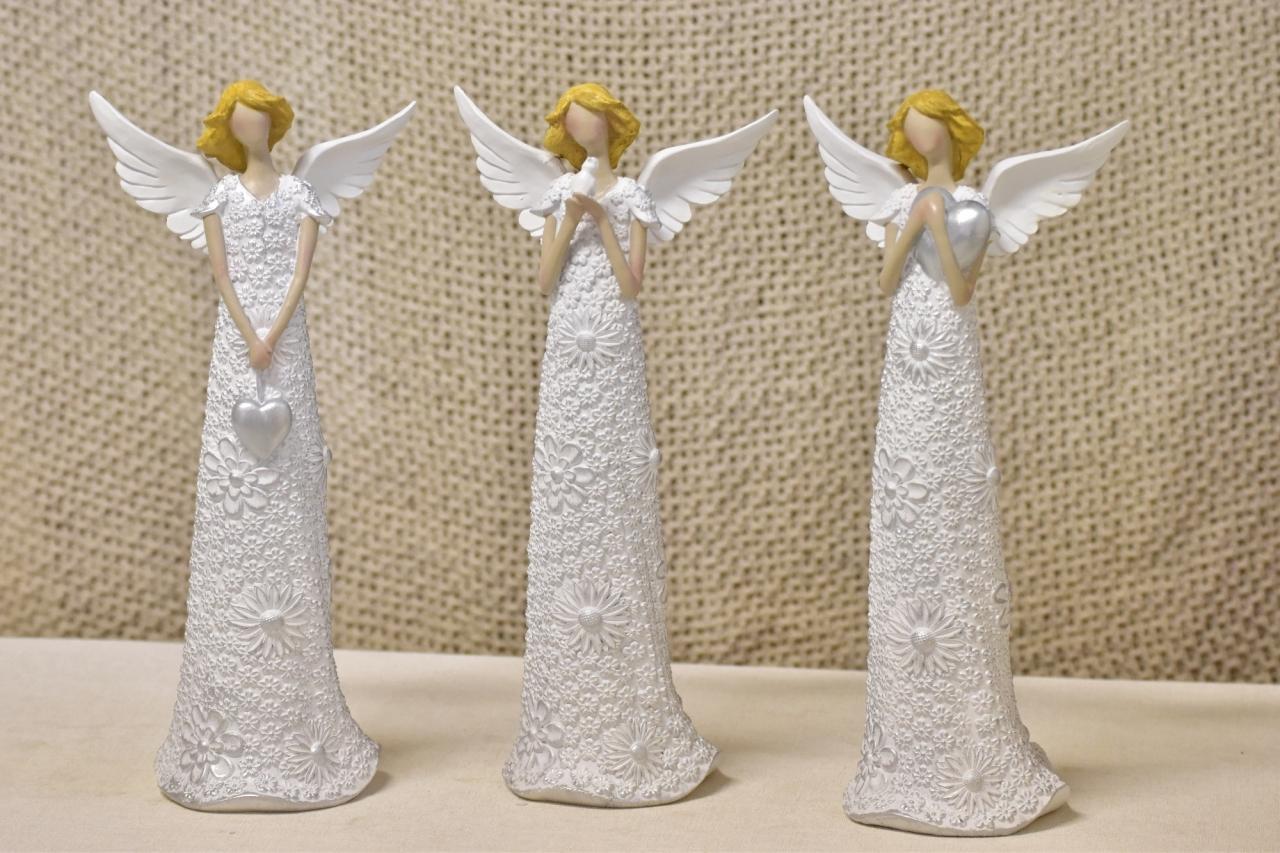 Anděl Flo Silver 33,5 cm