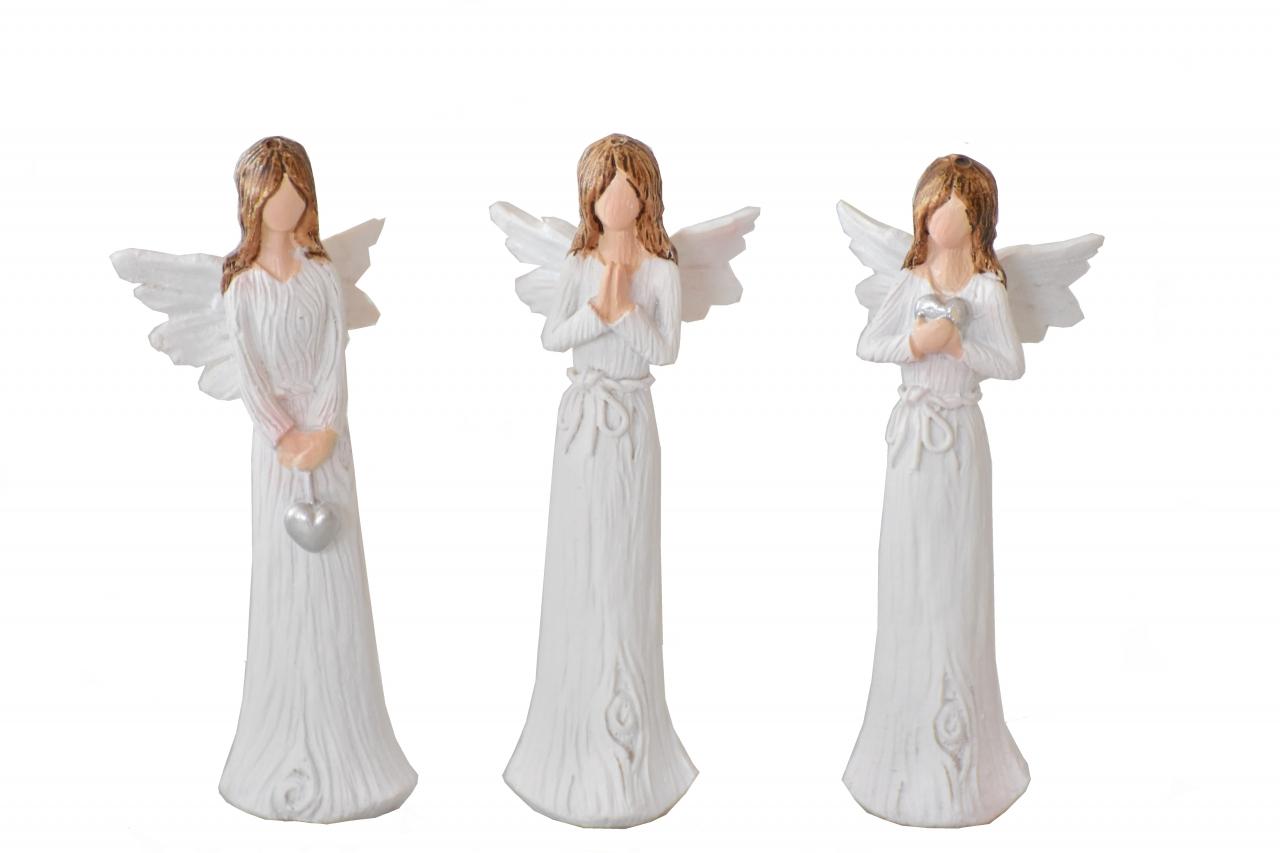 Anděl Wood White 8,5 cm, mix druhů