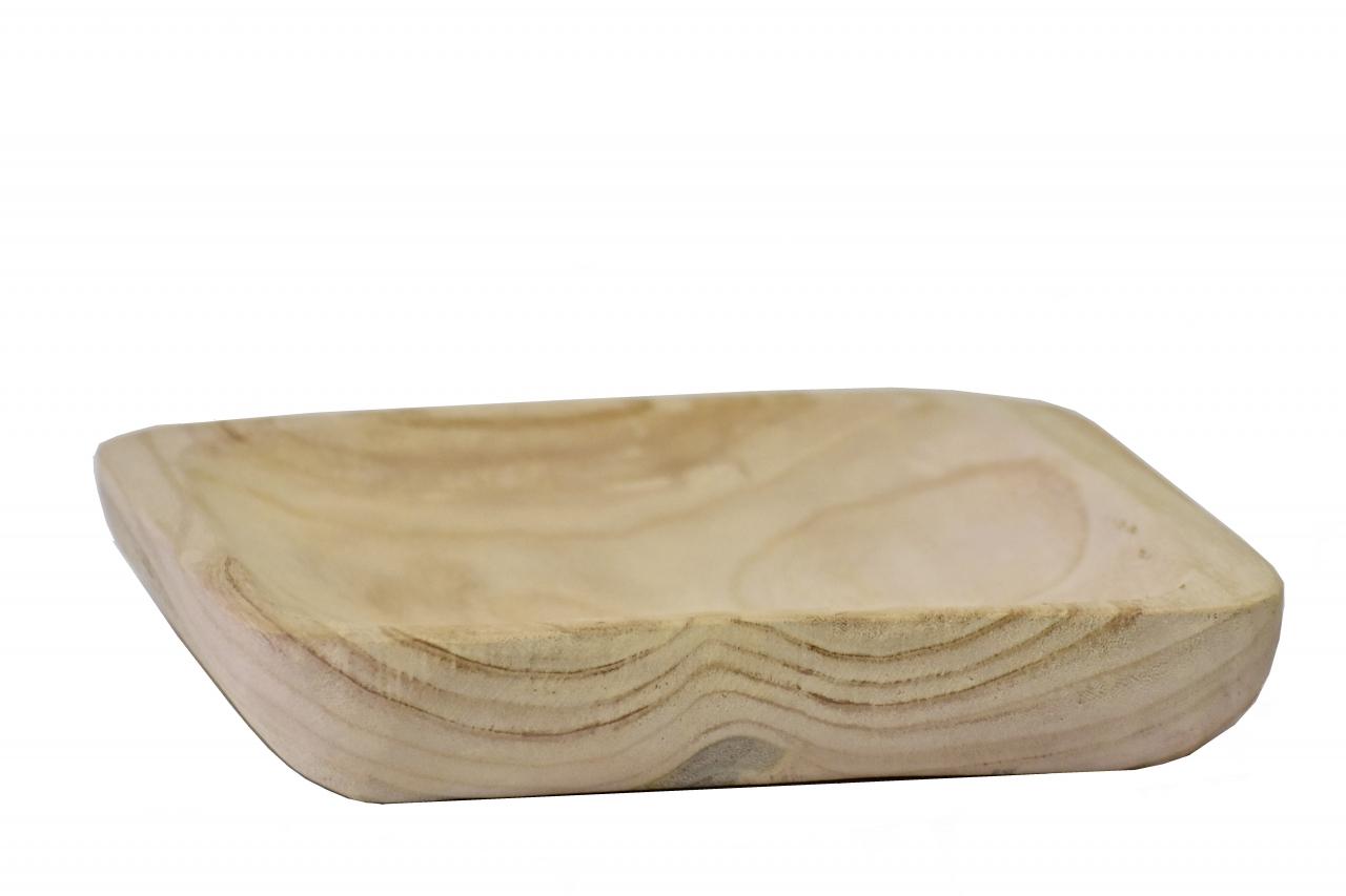 Dřevěný tác z Paulownie 28,5x28,5x5 cm