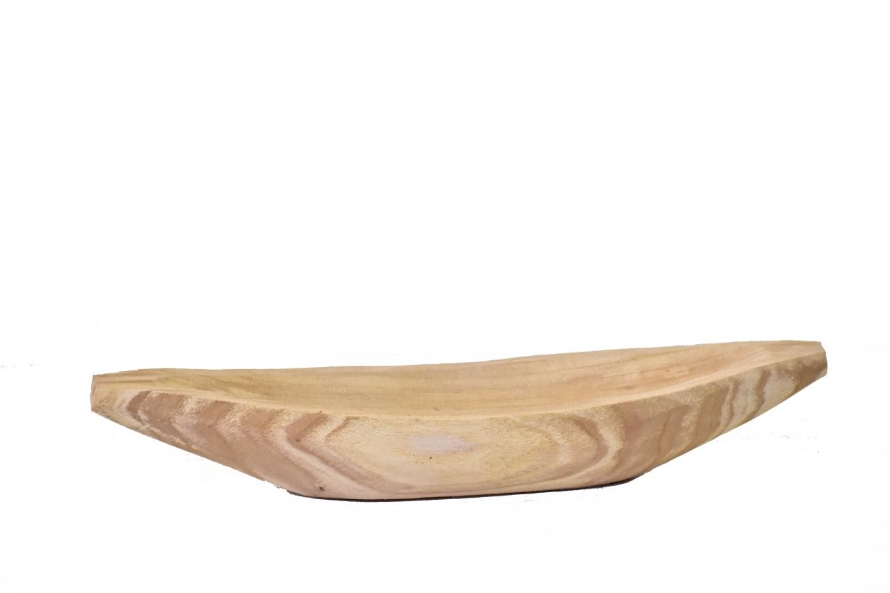 Dřevěný tác-lodička z Paulownie 40,5x13,5x7 cm
