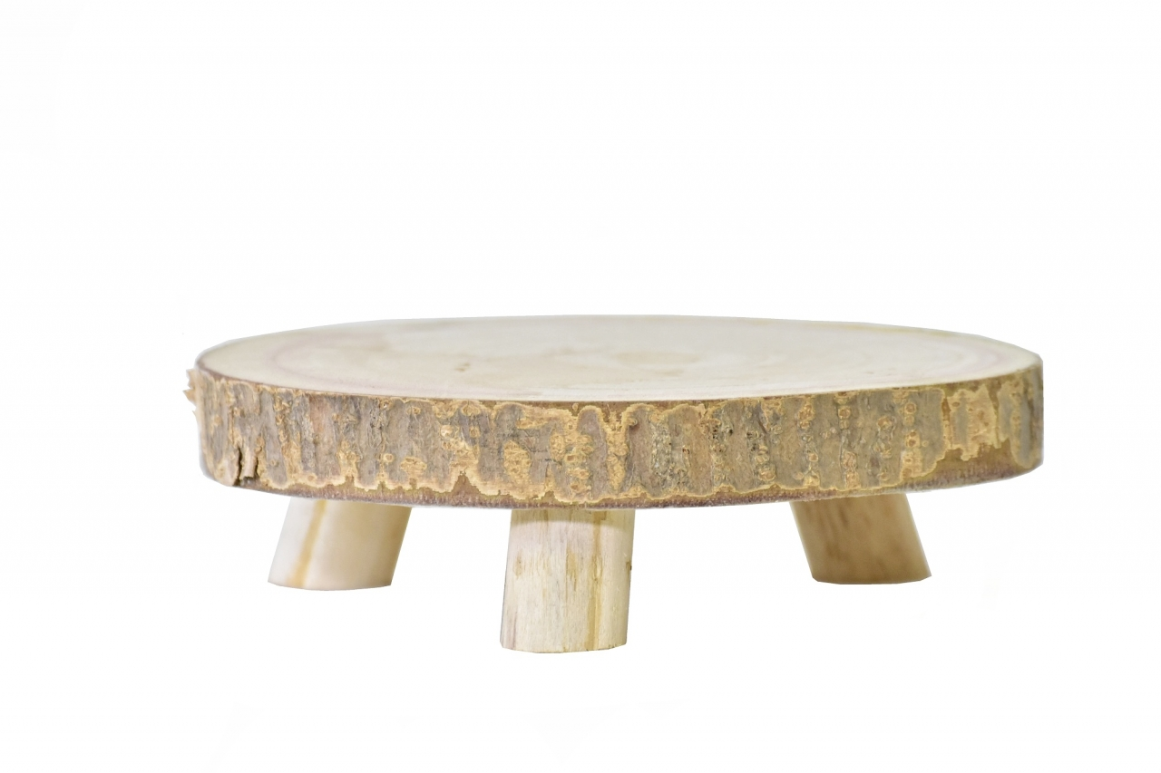 Dřevěný stojan Paulownia 21x6 cm