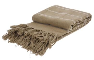 Bavlněná deka 130x170 cm, hnědá