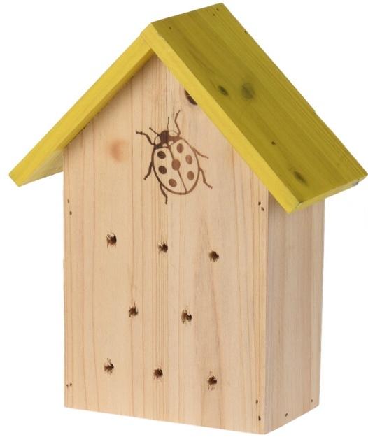 Hmyzí hotel pro berušky, žlutý 17x8,5x21,2 cm