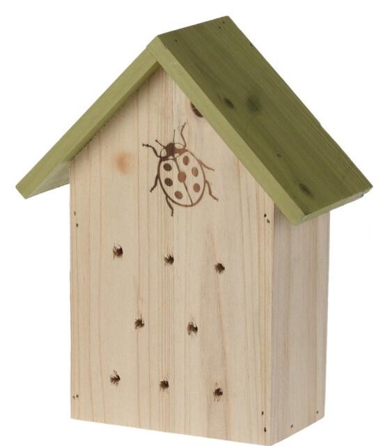 Hmyzí hotel pro berušky, zelený 17x8,5x21,2 cm