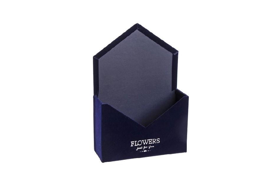 Flower box obálka, tmavě modrá sametová