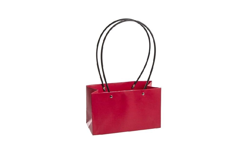 Flower box taška L červená, rovná