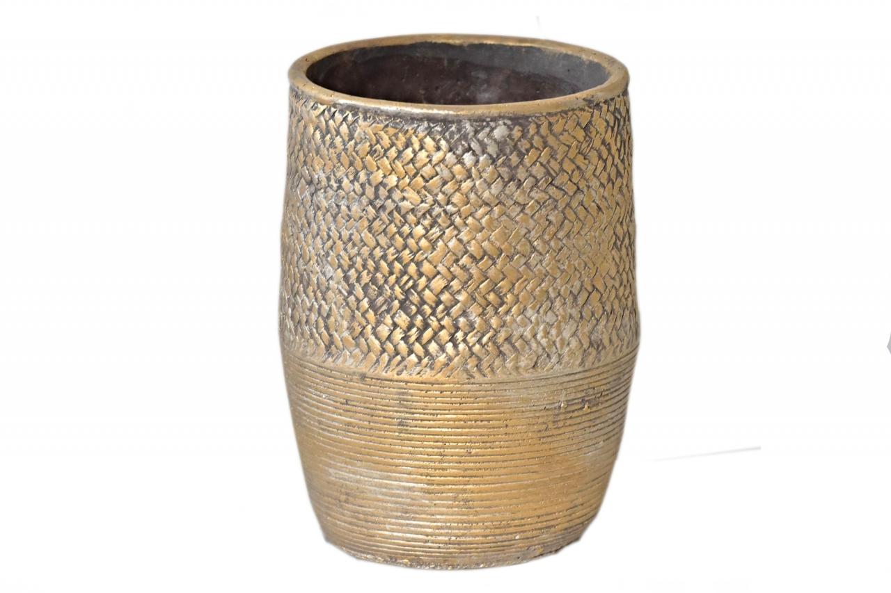 Květináč/váza Gold 23x15,5 cm