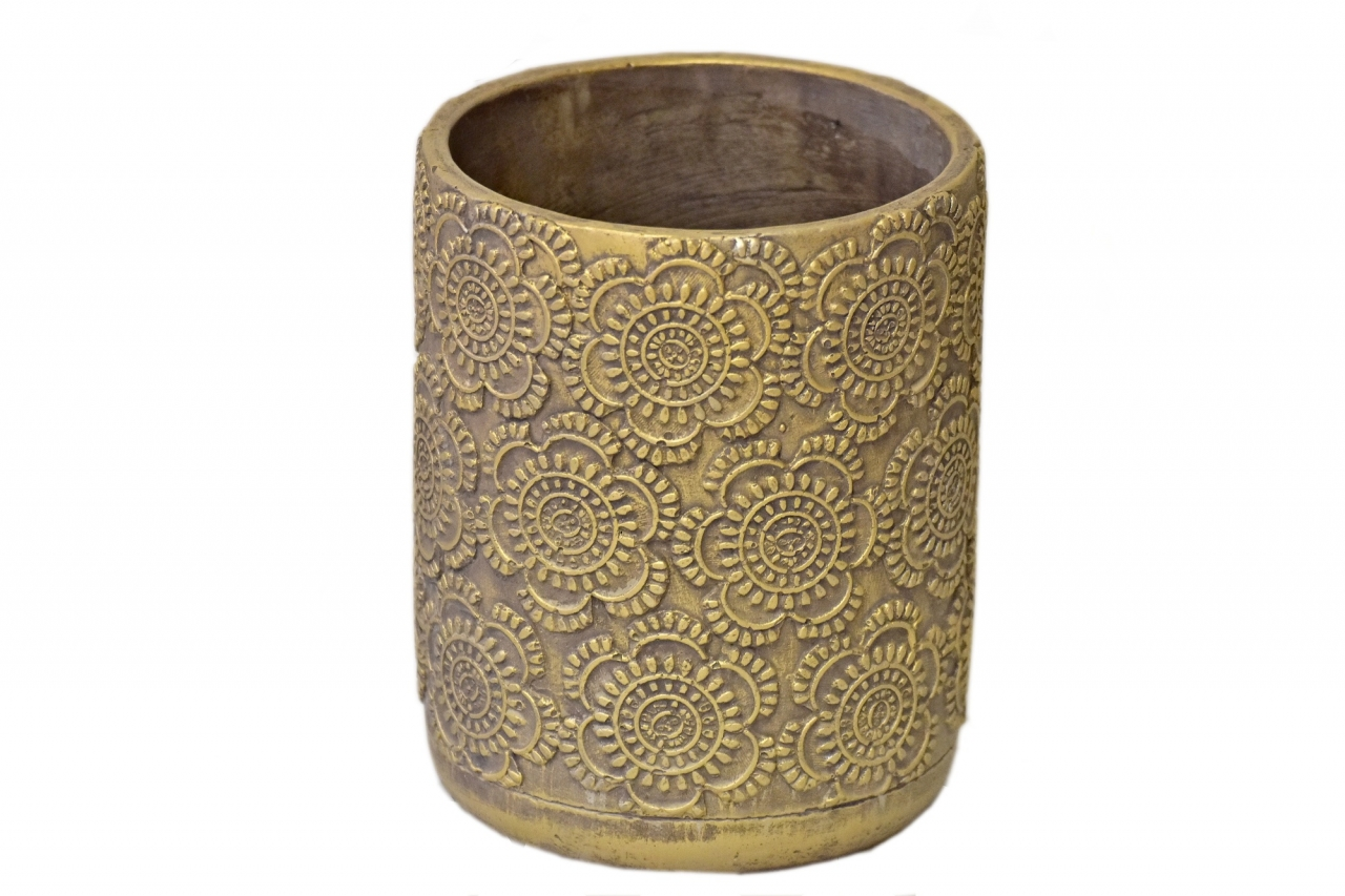 Květináč/váza Gold mandala 19x15 cm