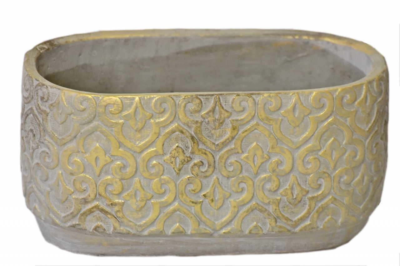 Květináč Gold rustik 12,5x14x24,5 cm