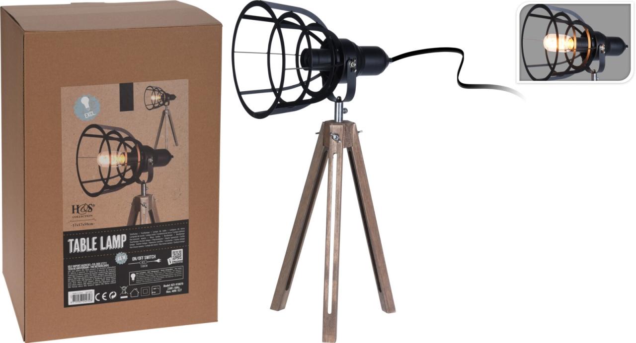 Industriální lampa trojnožka 57x30 cm