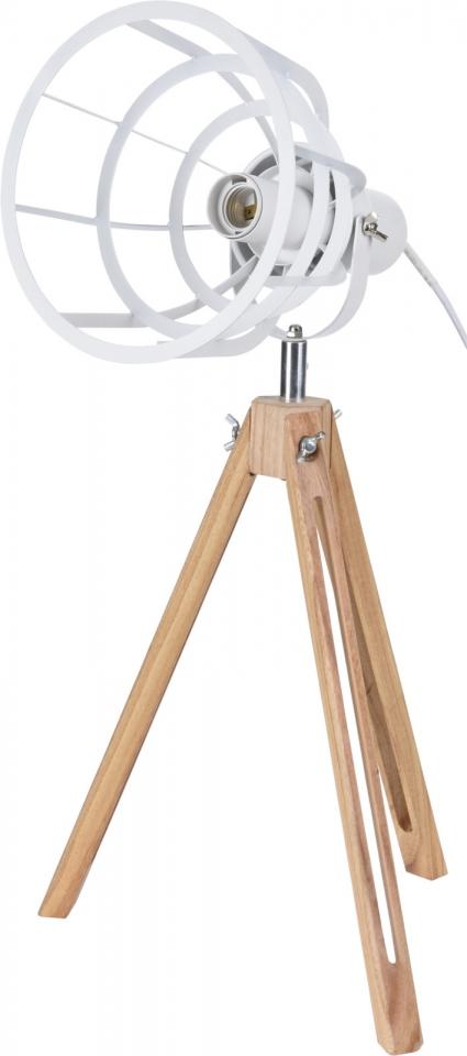 Industriální lampa trojnožka 50x17 cm, bílá