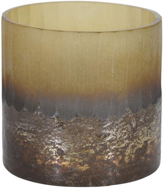 Skleněný svícen krémový 11x10 cm