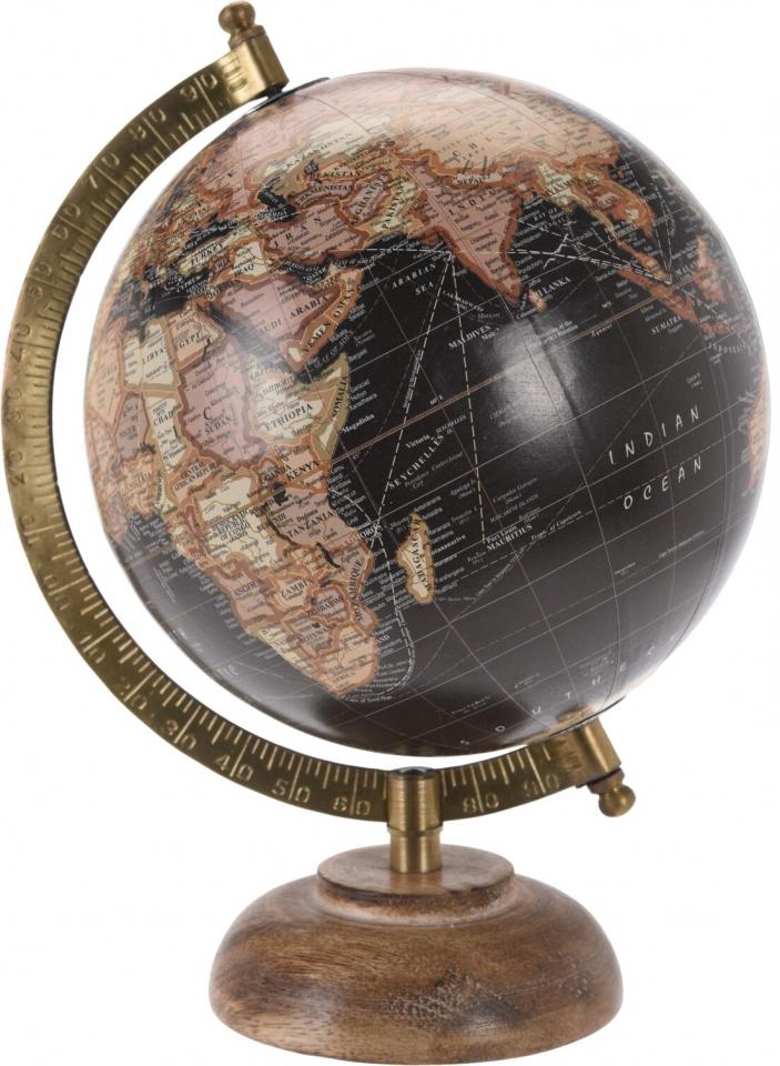 Otočný globus černý broskvový 24 cm