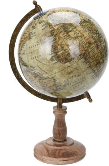 Otočný globus na vysokém podstavci 38x21,5x21,5 cm, krém