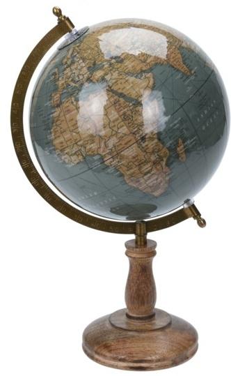 Otočný globus na vysokém podstavci 38x21,5x21,5 cm, zelený