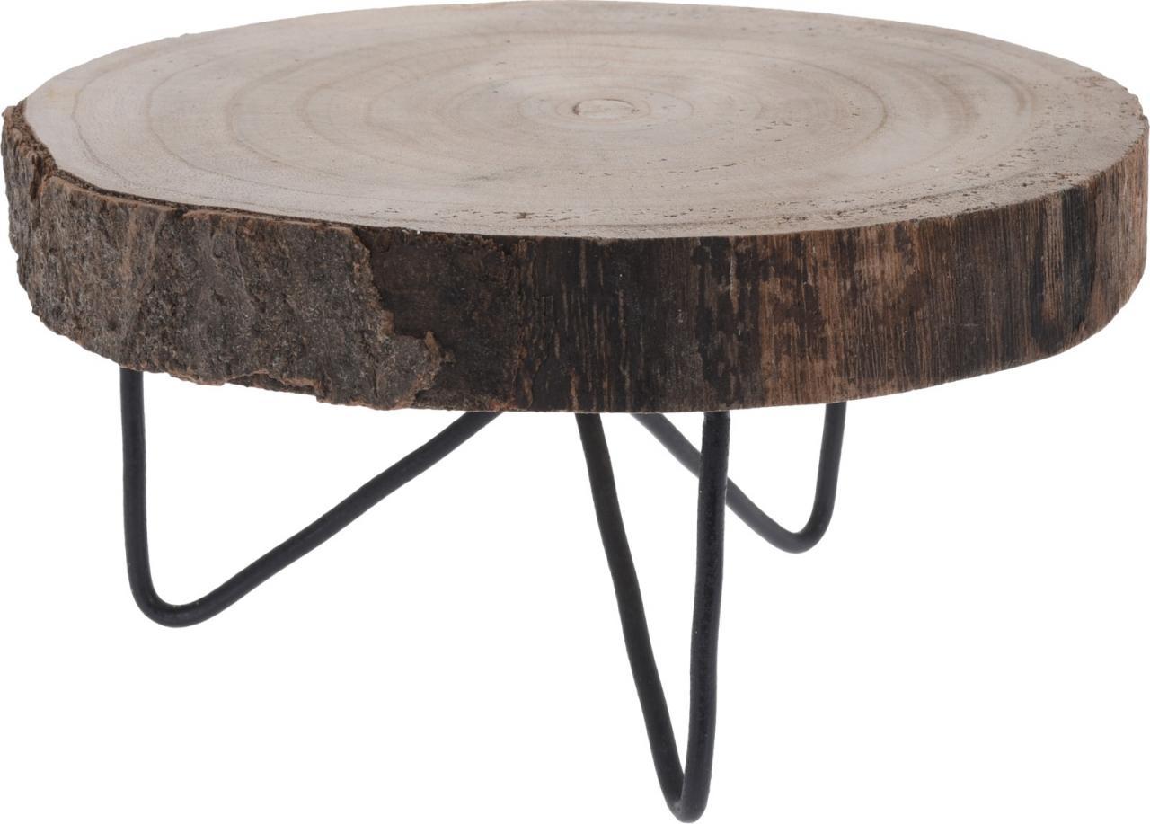 Dřevěný stojan Paulownia na kovových nožkách 24x12 cm