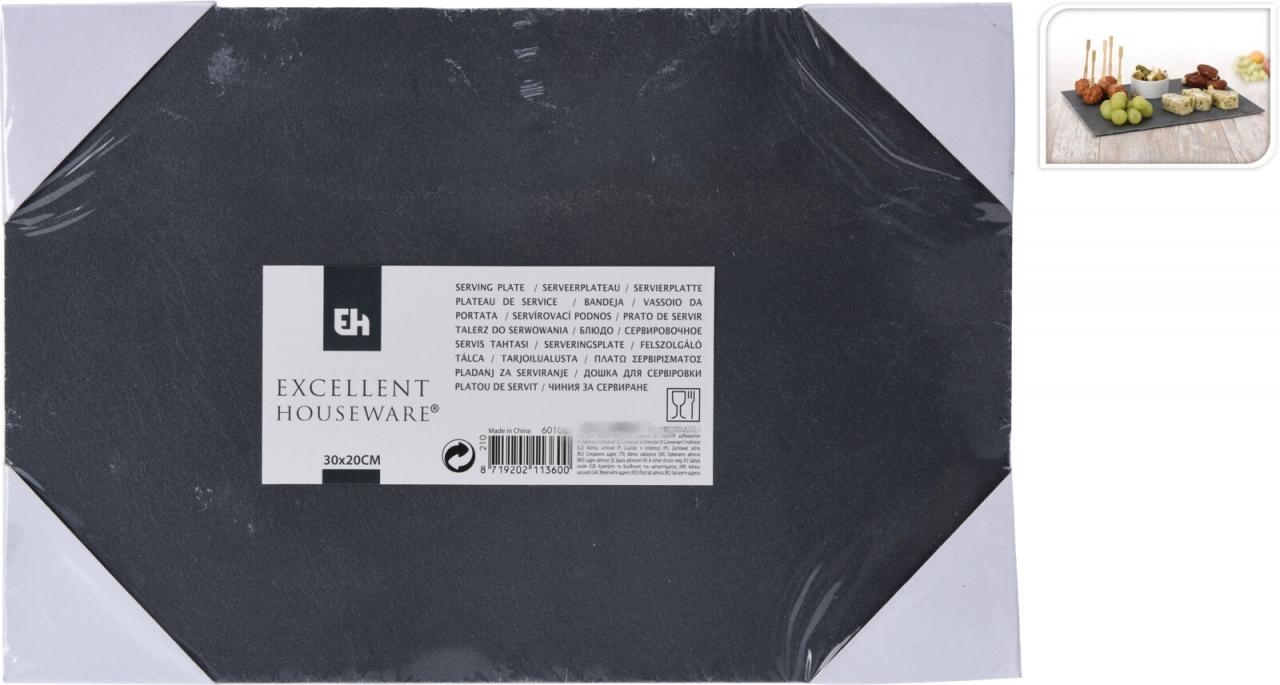 Servírovací prkénko z břidlice 30x20x4 cm