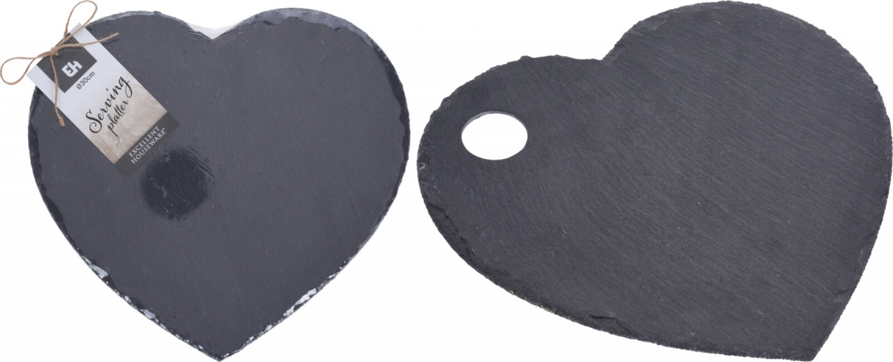 Servírovací prkénko z břidlice, srdce, 30x0,5 cm