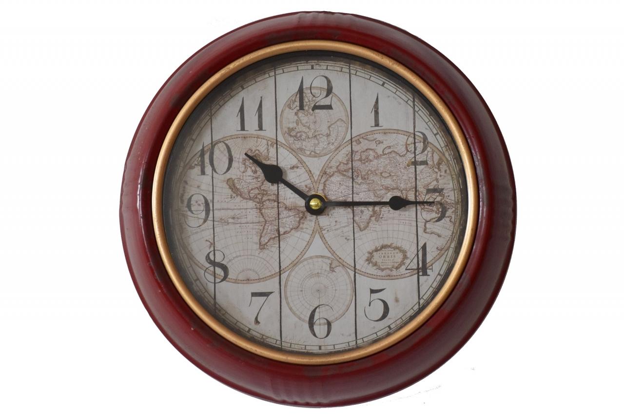 Nástěnné hodiny zeměkoule 24,5 cm