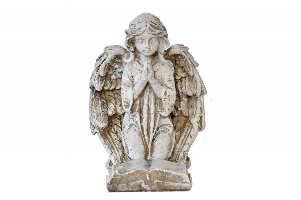 Anděl s knihou 13x9,5x9 cm bez textu