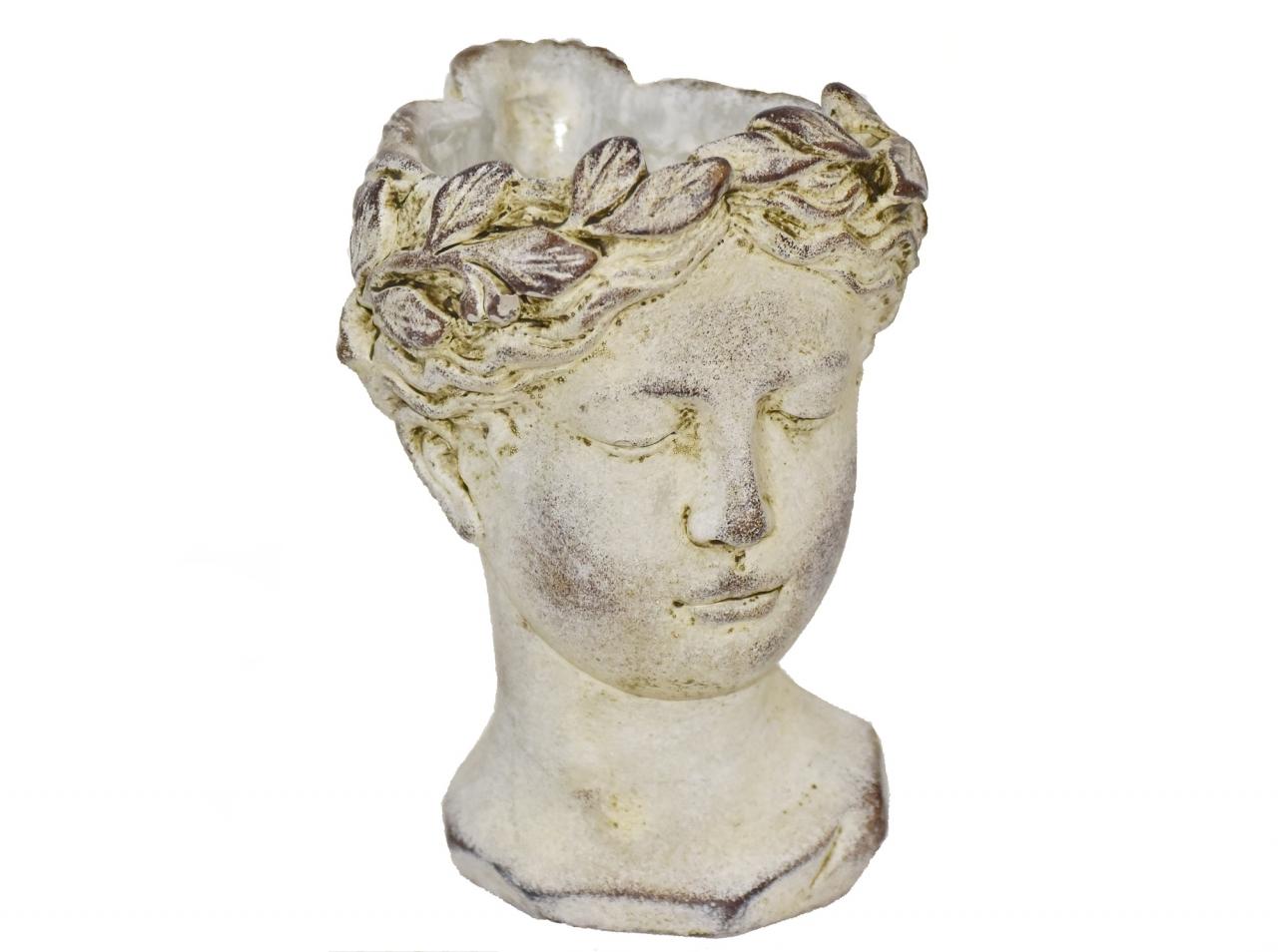 Cementová hlava - květináč 22x15x15 cm