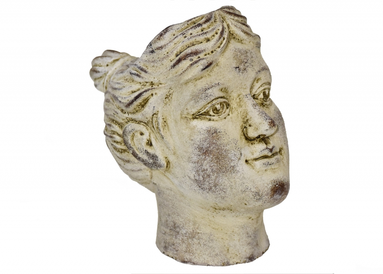 Cementová hlava - květináč 22x16x23 cm